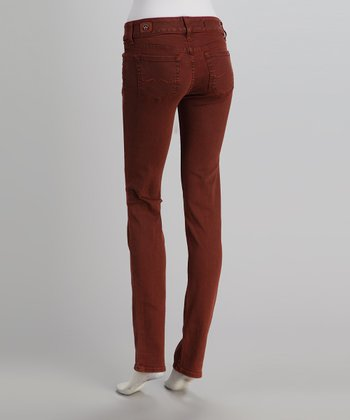 Red Engine Cinnabar Cinder Slim Straight-Leg Jeans