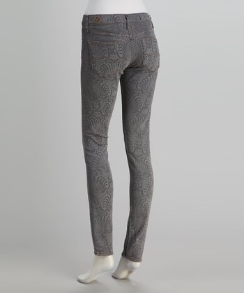 Red Engine Astral Gray Damask Cayenne Skinny Jeans