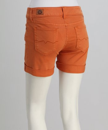 Red Engine Tangerine Comet Short Shorts