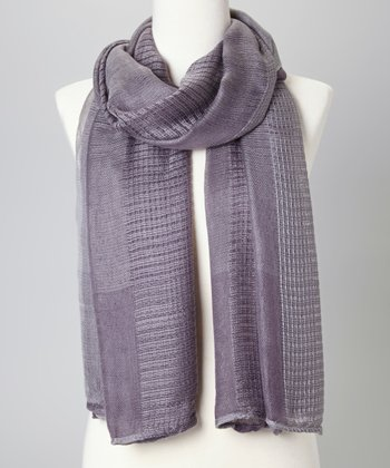 Gray Mixed Knit Scarf