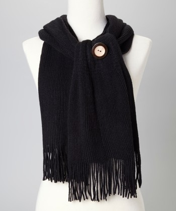 Black Button Scarf