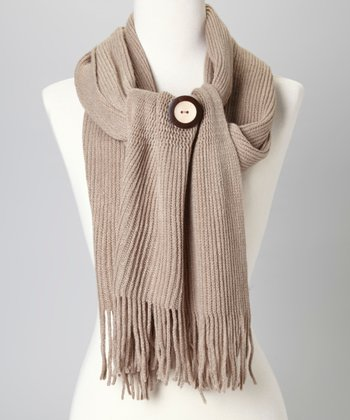 Beige Button Scarf