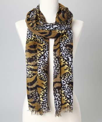 Yellow & Black Jungle Scarf