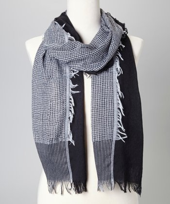 Black & White Stripe Scarf