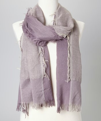 Light Brown Stripe Scarf