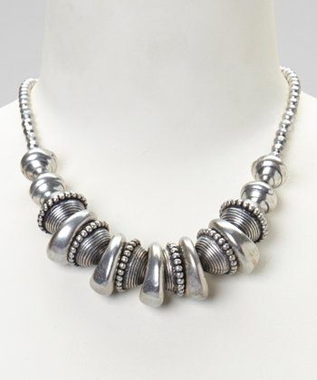 Silver Beaded Necklace