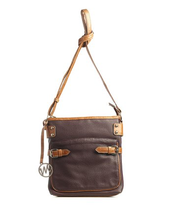 Wine Pebble Gail Crossbody Bag