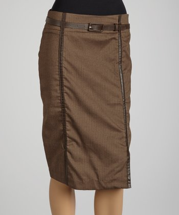 Brown Belted Skirt