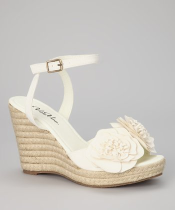White Flower Espadrille
