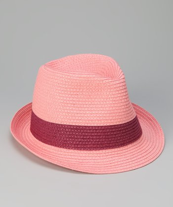 Pink & Raspberry Band Fedora