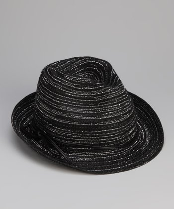 Black Bow Cord Fedora
