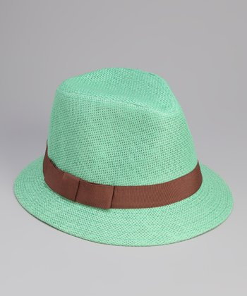 Mint Bow Band Cloche Hat