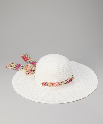White Sash Sun Hat