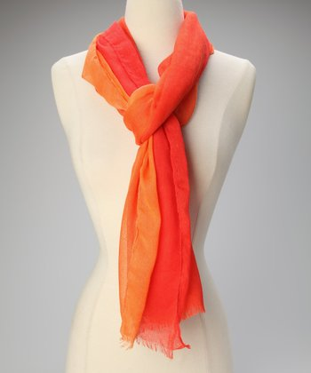 Orange Ombre Scarf