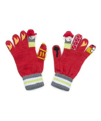 Red Firefighter Gloves