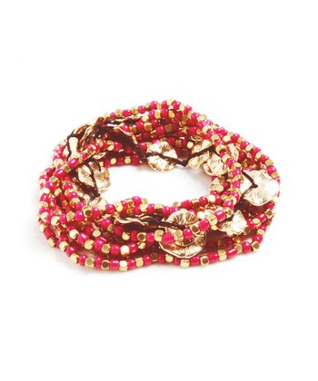 Fuchsia Amelie Stretch Bracelet Set