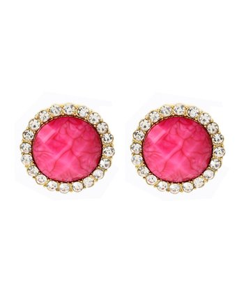 Austrian Crystal & Fuchsia Bridgehampton Earrings