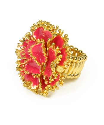 Fuchsia & Gold Dillon Stretch Ring