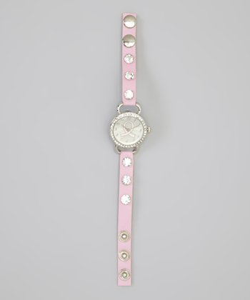 Pink Sparkle Ribbon Watch