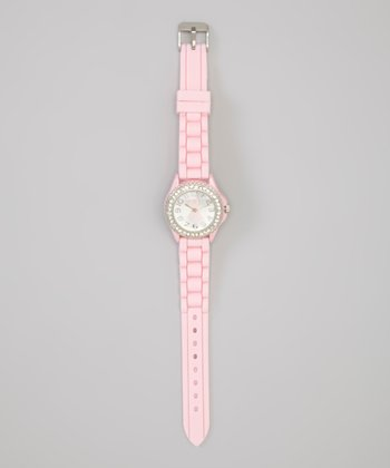 Pink Shimmer Ribbon Watch