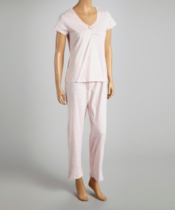 Pink Trimmed with Love Pajamas - Women