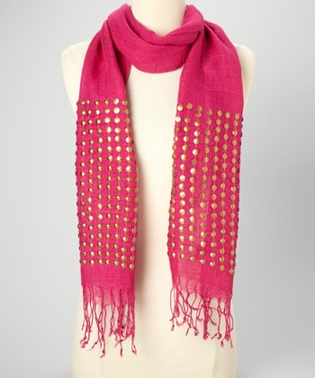 Hot Pink Studded Scarf
