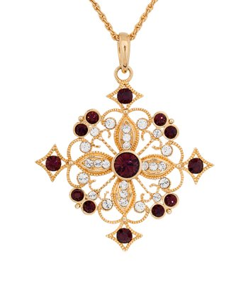 Gold & Ruby Refined Necklace Made With SWAROVSKI ELEMENTS