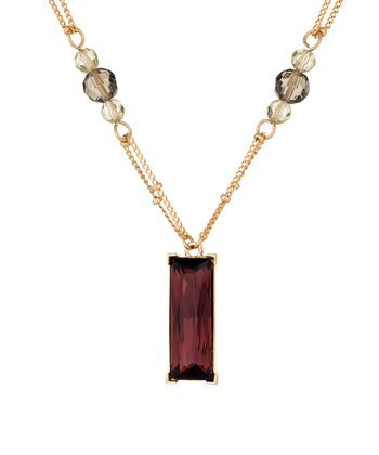 Gold & Burgundy Column Necklace Made With SWAROVSKI ELEMENTS