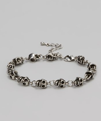 Antique Silver Skull Bracelet