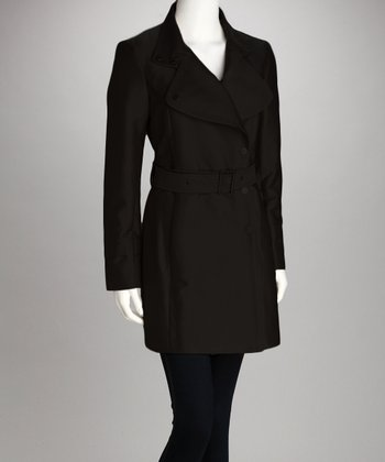 Black Trench Coat - Women
