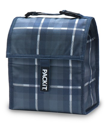 Gray & Black Plaid Lunch Cooler