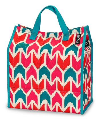 Teal & Pink Ikat Shop Cooler