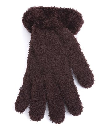 Brown Fuzzy Gloves