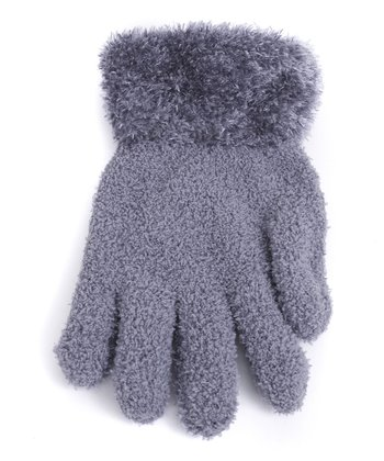 Gray Fuzzy Gloves