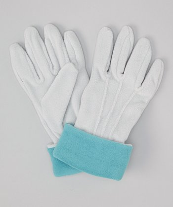 Teal & Gray Gloves