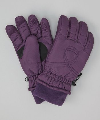 Plum Shirred Gloves