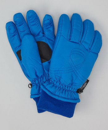 Royal Blue Shirred Gloves
