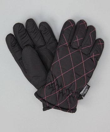 Black Lattice Gloves