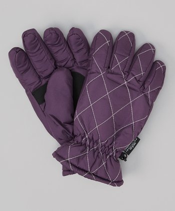 Plum Lattice Gloves
