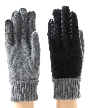Charcoal Kia Wool-Blend Gloves