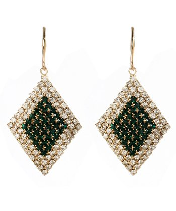 Emerald Austrian Crystal Eve Drop Earrings