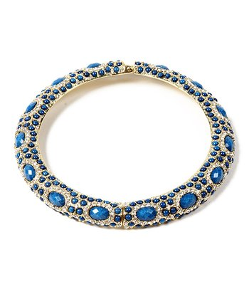 Blue Lapis & Austrian Crystal Sagaponack Collar Necklace
