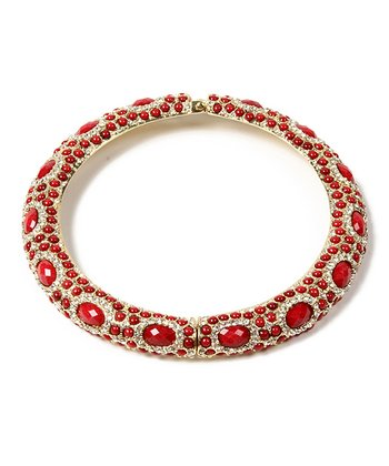 Ruby & Austrian Crystal Sagaponack Collar Necklace