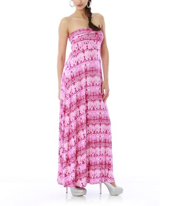 Crocus Strapless Maxi Dress