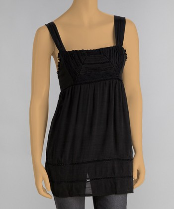 Black Sash Square Neck Tank