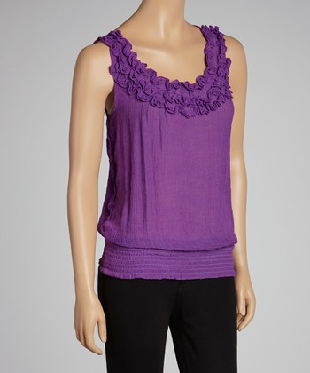 Purple Ruffle Tank