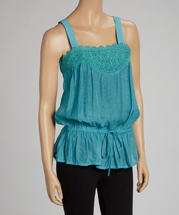 Jade Lace Crocheted Tank