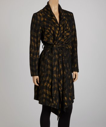 Black & Gold Trench Coat