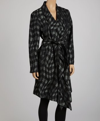 Black & Gray Trench Coat