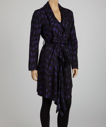 Black & Purple Trench Coat